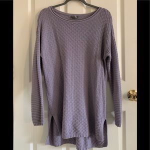 Vince Camino Lavender Basket Weave Tunic Sweater M